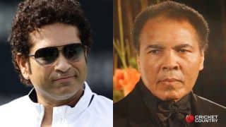 Sachin Tendulkar calls Muhammad Ali his childhood hero