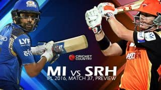 Mumbai Indians vs Sunrisers Hyderabad, IPL 2016 Match 37 at Visakhapatnam, Preview: Wary MI face surging SRH