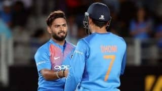 Wonderful sight: Change of symbolic baton from master Dhoni to protege Pant