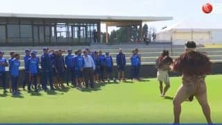 Famous 'Haka Dance' ceremonial welcome for India