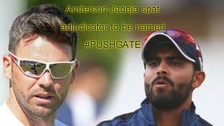 India tour of England 2014: Adjudicator on the Ravindra Jadeja-James Anderson spat to be named today