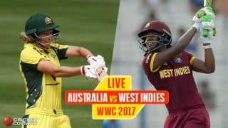 Live cricket score, Australia vs West Indies, ICC Women's World Cup 2017: Hayley falls for 46