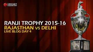 RAJ 186/3 | Live Cricket Score, Rajasthan vs Delhi, Ranji Trophy 2015-16, Group A match, Day 4 at Jaipur: RAJ draw game with Delhi
