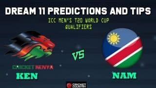 Dream11 Team Kenya vs Namibia ICC Men's T20 World Cup Qualifiers – Cricket Prediction Tips For Today's T20 Match 34 Group B KEN vs NAM at Abu Dhabi
