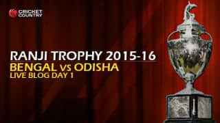 Bengal 23/0 | Live Cricket Score, Bengal vs Odisha, Ranji Trophy 2015-16, Group A match, Day 1 at Kolkata: Bengal lead by 58 runs