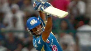 Mumbai Indians in the hunt in run-chase of 158 against Sunrisers Hyderabad in IPL 2014