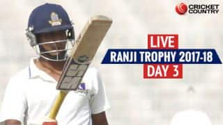 Live Cricket Score, Ranji Trophy 2017-18, Round II, Day 3