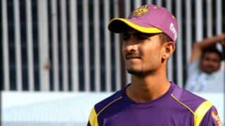 IPL 2015: KC Cariappa admits that he was his nervous during his IPL debut for KKR vs RCB