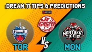 Dream11 Team Toronto Nationals vs Montreal Tigers Match 18 GT20 CANADA 2019 GLOBAL T20 CANADA – Cricket Prediction Tips For Today's T20 Match TOR vs MON at ontario