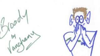 PHOTOS: England's Ashes heroes turn into cartoonists
