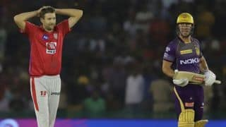 KXIP vs KKR LIVE: Lynnsanity takes KKR to 62/1 in 6 chasing 184 to win