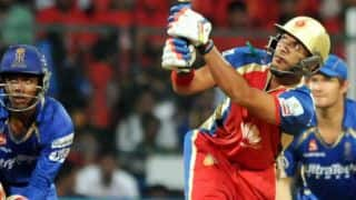 Yuvraj Singh, AB de Villiers power Royal Challengers Bangalore to 190/5 against Rajasthan Royals in IPL 2014