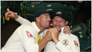 Pictures: Australian Team celebrates after Ashes win