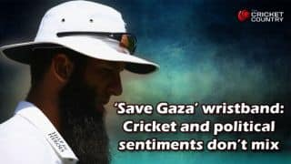 'Save Gaza' wristband: Cricket, political sentiments don't mix