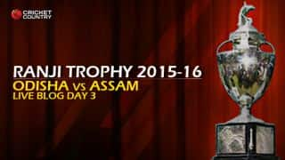 ODISHA 142/2 I Live cricket score, Odisha vs Assam, Ranji Trophy 2015-16, Group A match, Day 3 at Cuttack: Odisha won by 8 wickets