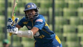 Dilshan fined 20 per cent match-fee for dissent