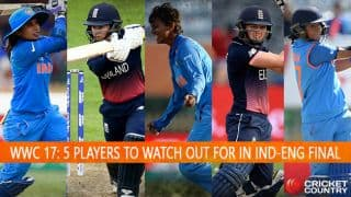 ICC Women's World Cup 2017, India vs England, final at Lord's: 5 players to watch out