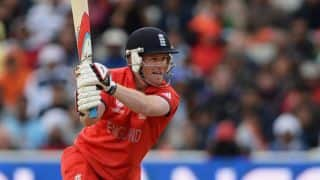 ICC World T20 2014 warm-up match: Eoin Morgan guides England to 131/7 against West Indies