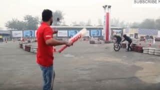 VIDEO: Virat Kohli tries a hand at trick cricket