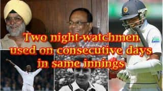 Two Night-watchmen used on consecutive days