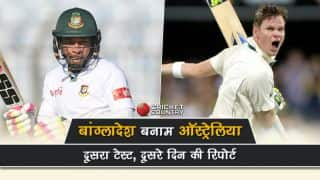 Bangladesh vs Australia, 2nd Test, Day 2:Steven Smith, David Warner, Peter Handscomb's fifties drives visitors to 225/2