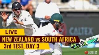 Live Cricket Score, New Zealand vs South Africa, 3rd Test, Day 3: NZ lead by 7 runs at stumps