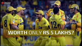 Chennai Super Kings valued at Rs 5 lakhs? The minimum salary for their players is Rs 10 lakhs!