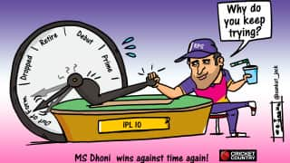 Cartoon: MS Dhoni wins against time again!