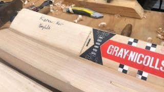 Cricket World Cup diary: At Edgbaston, a sighting of Karun Nair's Gray-Nicolls Test bat prototype