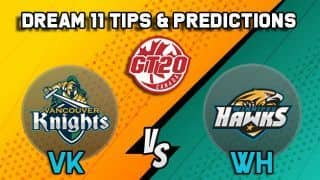 Dream11 Team Vancouver Knights vs Winnipeg Hawks Match 5 GT20 CANADA 2019 GLOBAL T20 CANADA – Cricket Prediction Tips For Today's T20 Match VK vs WH at Brampton