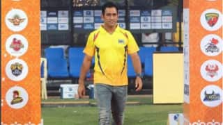 Video: MS Dhoni hit 3 sixes in 3 ball in TNPL 2017 opening six hitting contest