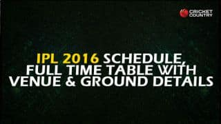 IPL 9 Schedule and Teams: IPL 2016 Schedule and Points Table for Indian Premier League (IPL)