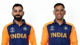 PHOTOS: Virat Kohli, MS Dhoni and the Indian team with India's new away kit