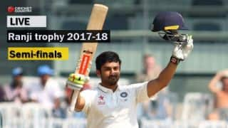 Live Cricket Score, Ranji Trophy 2017-18, semi-final, Day 2
