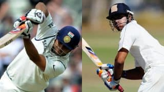 Raina, Tiwary revive India Blue at tea, Day 1 against India Green