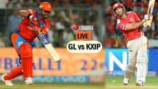 Live IPL 2017 Scores, GL vs KXIP, IPL 10, Match 26: GL elect to bowl: Akshar departs for 34