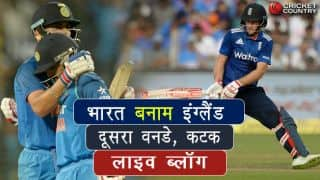 Live cricket score in Hindi India vs England 2nd ODI at Cuttack