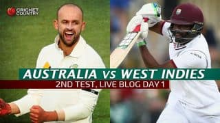 AUS 350/3 in 90 Overs│Live Cricket Score, Australia vs West Indies 2015-16, 2nd Test at Melbourne, Day 1: Smith, Voges unbeaten at stumps