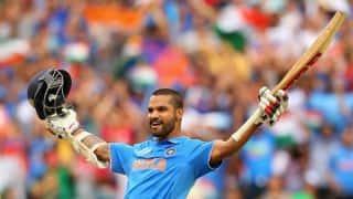 Shikhar Dhawan scores 8th ODI century against Ireland in ICC Cricket World Cup 2015