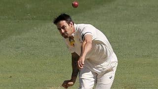 India vs Australia, 1st Test at Adelaide Oval, Day 5: Varun Aaron LBW to Mitchell Johnson