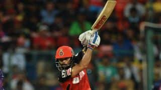 Virat Kohli's half-century; Adam Zampa's 2 for 17 in ongoing Royal Challengers Bangalore vs Rising Pune Supergiants Match 35 of IPL 2016