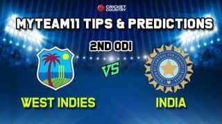 IND vs WI My Team 11 Team India vs West Indies, 2nd ODI, West Indies vs India ODI – Cricket Prediction Tips For Today's Match IND vs WI at Trinidad