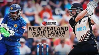 NZ 147/1 in 10 Overs, target 143 | Live Cricket Score, New Zealand vs Sri Lanka 2015-16, 2nd T20I at Auckland: New Zealand won by 9 wickets
