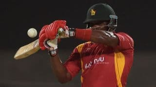 Zimbabwe playing slow following 2 quick wickets against Pakistan in 1st ODI at Lahore