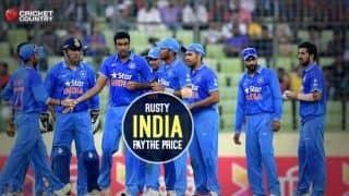 India was rusty against Bangladesh in 1st ODI at Dhaka