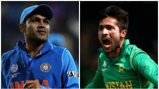 पाकिस्तान के तेज गेंदबाज मोहम्मद आमिर बनाएंगे वीरेंद्र सहवाग को टी10 चैंपियन!