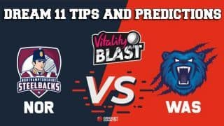 Dream11 Team Northamptonshire vs Birmingham/Warwickshire North Group VITALITY T20 BLAST ENGLISH T20 BLAST – Cricket Prediction Tips For Today's T20 Match NOR vs WAS at Northampton