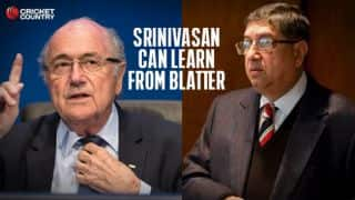 N Srinivasan can learn from Sepp Blatter's resignation as FIFA President