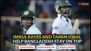 Tamim Iqbal, Imrul Kayes help Bangladesh finish on top against Pakistan on Day 4 of 1st Test at Khulna