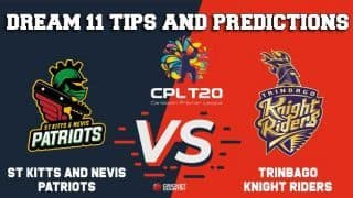 SKN vs TKR Dream11 Team CPL 2019 – Cricket Prediction Tips For Today's T20I Match St Kitts and Nevis Patriots vs Trinbago Knight Riders at Basseterre